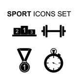 Sport icons set. Vector illustration. Sport icons set. Silhouette symbols.  Vector illustration Stock Photography