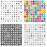 100 sport icons set vector variant. 100 sport icons set vector in 4 variant for any web design isolated on white Royalty Free Stock Photos