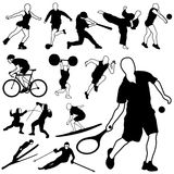 Sport icons vector Royalty Free Stock Image