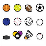 Sport icons. Vector collection of sport icons isolated on white background Royalty Free Stock Photos