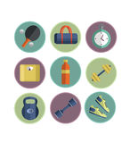 Sport icons vector. Set of Gym icons. Sport series. Flat Vector Icons vector illustration