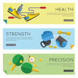 Sport icons vector. Set of Gym icons. Sport series. Flat Vector Icons Royalty Free Stock Photo