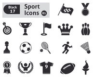 Sport icons. Vector set for you design Royalty Free Stock Image