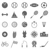 Sport icons on white background Stock Photography