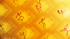 Sport icons on a yellow background Royalty Free Stock Photos