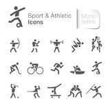 Sport & idrotts- släkt pictogram royaltyfri illustrationer
