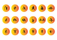 Sport ikon wektorowa sylwetka Fotografia Stock