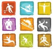 Sport-Ikonen Stockbilder