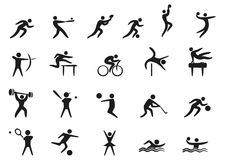 Sport ikony Obraz Stock