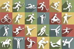 Sport ikony set royalty ilustracja