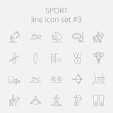 Sport ikony set Fotografia Stock