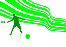 Sport illustration with tennis player. On whitebackground Royalty Free Stock Image