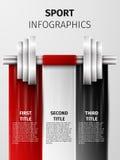 Sport infographics Stock Photos