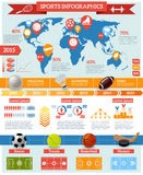 Sport Infographics Set Stock Images