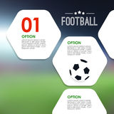 Sport infographics template. Soccer, football concept.  Stock Image