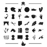 Sport, interior and other web icon in black style. equipment, animal icons in set collection. Royalty Free Stock Image