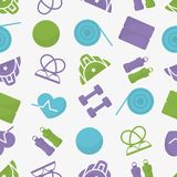 Sport inventory seamless  pattern. Stock Images