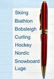 Sport invernali Immagini Stock