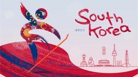 Sport invernali e punti di riferimento famosi in Corea del Sud Fotografia Stock