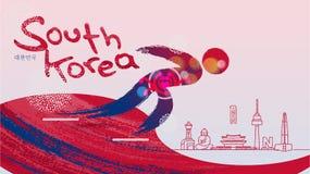 Sport invernali e punti di riferimento famosi in Corea del Sud Immagine Stock Libera da Diritti