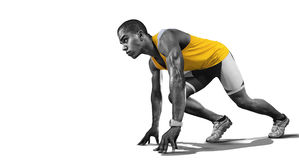 Sport. Isolated Athlete runner. Royalty Free Stock Photo