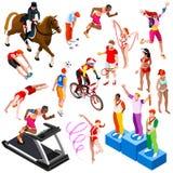 Sport Isometric Olympic Sportsmen Set Vector Illustration royalty free illustration