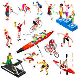 Sport Isometric Sportsmen Set Olympic Game Vector Illustration Stock Photography