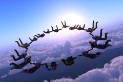 Sport ist im Himmel Stockfotografie