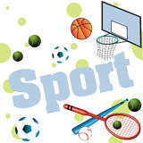 Sport items Royalty Free Stock Images