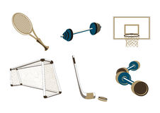 Sport items Stock Images