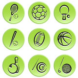 Sport items icon Stock Images