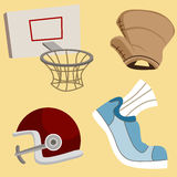 Sport Items Stock Image