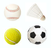 Sport items isolated Stock Photos