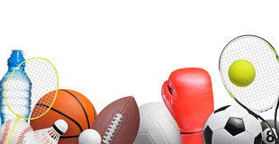 Sport items Royalty Free Stock Photos
