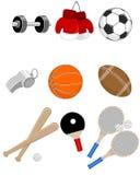 Sport items set Stock Photography