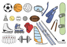 Sport items  set Stock Photos