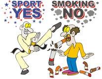 Sport ja smokimg kein Endsmokung Stockfoto