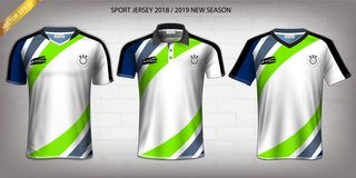 Free Sport Jersey, T-Shirt Design Mockup Template, Front View For Your Custom Made Uniforms. Stock Images - 139040804