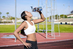 Sport Jogging - Water Drinking Stock Images
