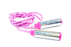 Sport jump rope on white background. Royalty Free Stock Photos