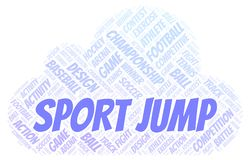 Sport Jump word cloud. Wordcloud made with text only stock illustration