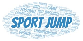 Sport Jump word cloud. Wordcloud made with text only royalty free illustration