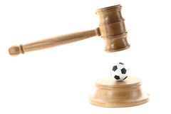 Sport and justice Royalty Free Stock Image