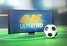 Sport on 4k format Stock Photography