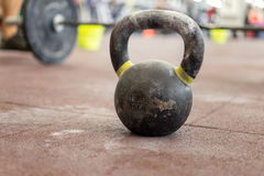 Sport kettlebell close up in the gym Royalty Free Stock Image