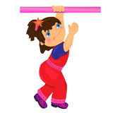 Sport kid illustration.isolated character Stock Photography