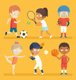 Sport kids. Royalty Free Stock Photo