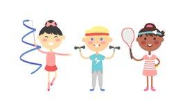 Sport kids vector illustration. Stock Photography