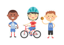 Sport kids vector illustration. Stock Photos