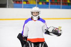 Kids ice hockey. Sport for Kids. Young ice hockey player stock images